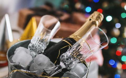 Champagner im Sektkelch